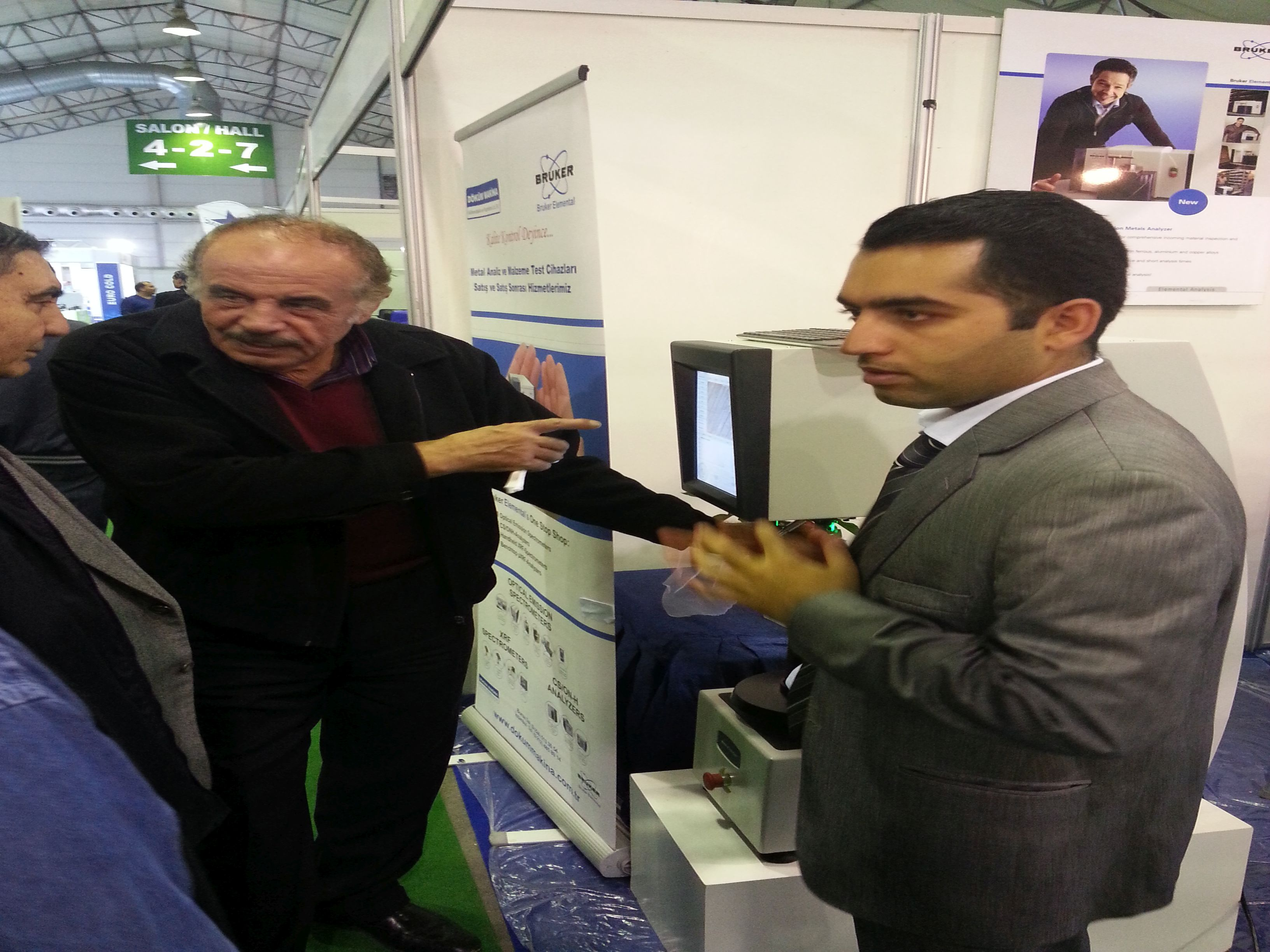 Visitors of Bursa Kalip Avrasya 2014 were in our stands in order to take some information about hardness testers.